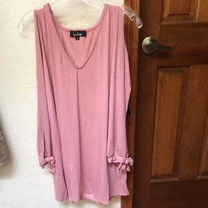 Lulu's Glory of Love Mauve Shift Dress
